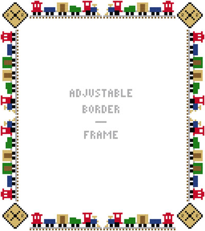 Tiny Train Borders Frame Adj    Susan Saltzgiver Designs