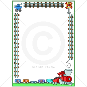 Train Track Border Clip Art Free Free Christmas Clipart Borders