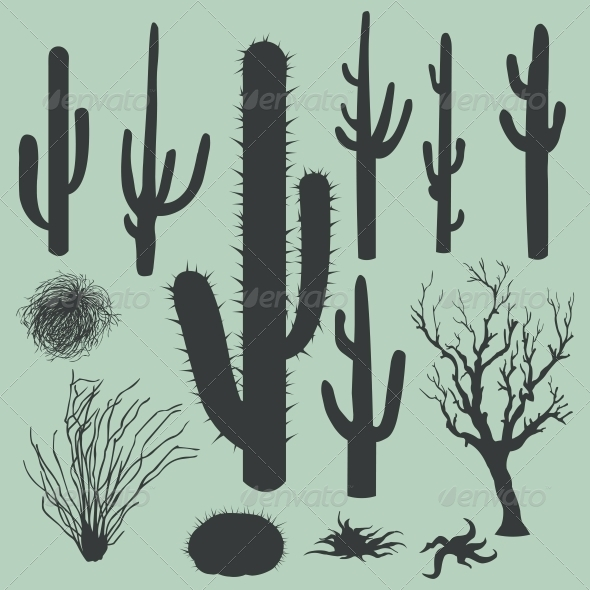 Cactus Silhouette Clipart - Clipart Suggest