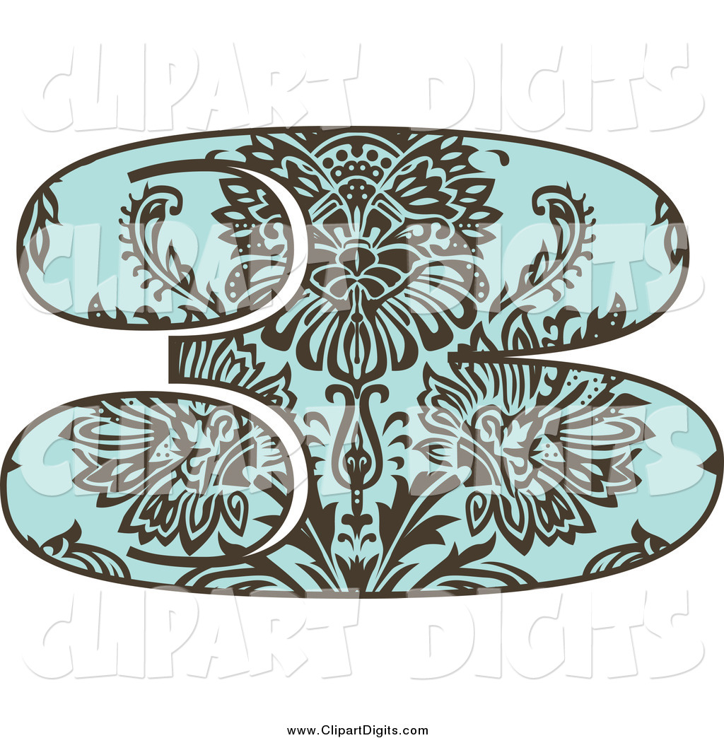 And Turquoise Vintage Damask Number 3 Brown And Turquoise Vintage