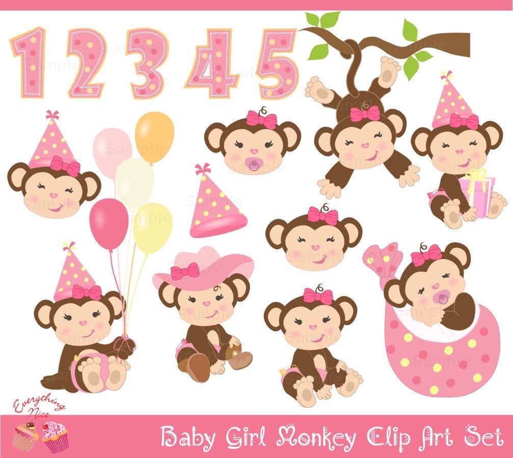 Cartoon Girl Monkey
