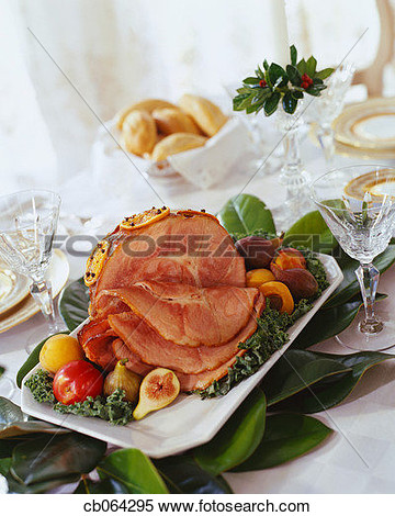 Baked Ham For Christmas Dinner View Large Photo Image