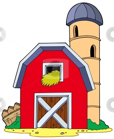 Barn With Granary Stock Vector Clipart Barn With Granary   Vector