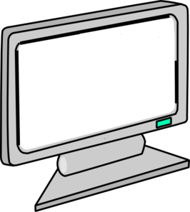 Blank Screen Computer Monitor Clip Art At Clker Com   Vector Clip Art