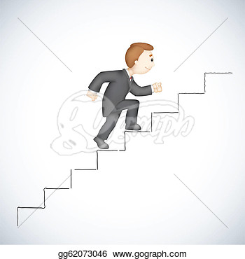 Business Man Climbing Success Stair  Eps Clipart Gg62073046   Gograph