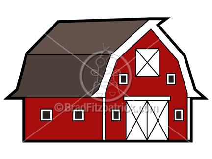 Cartoon Barn Clipart Picture   Royalty Free Barn Clip Art Licensing