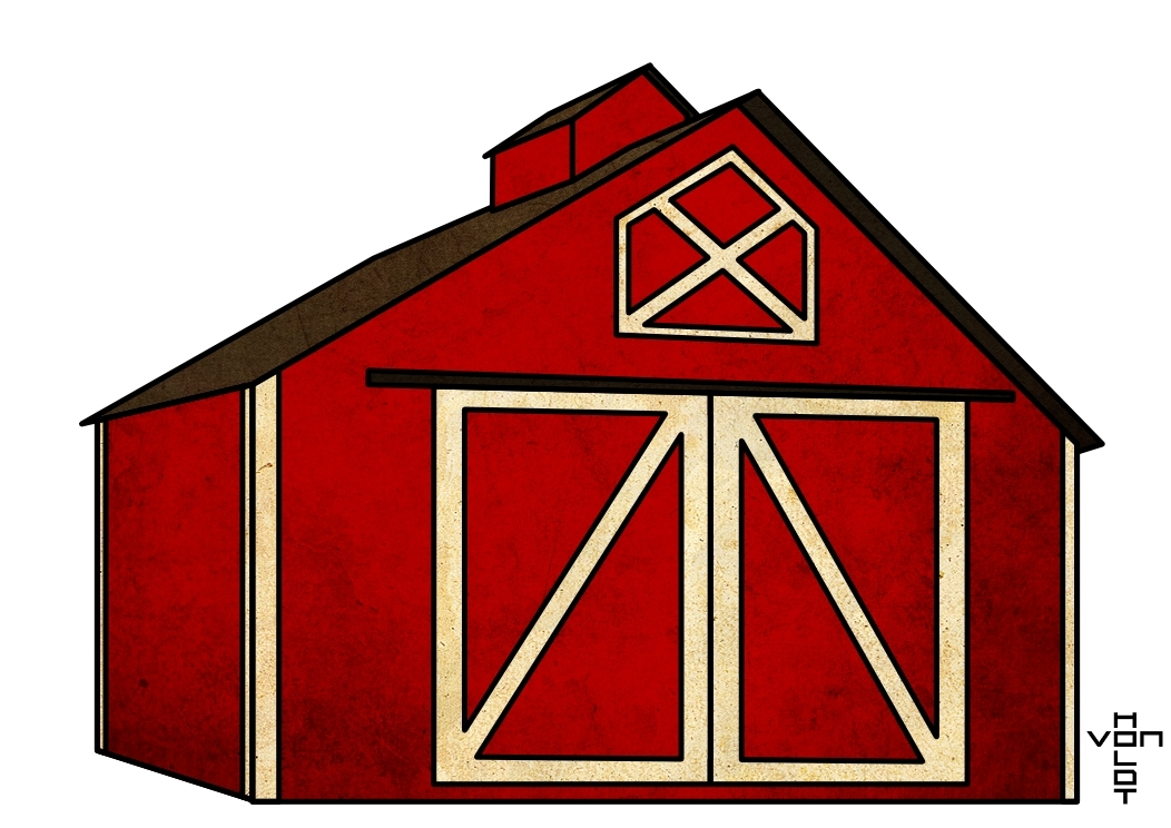 Cartoon Barn Http   Doodleaday Wordpress Com 2010 10