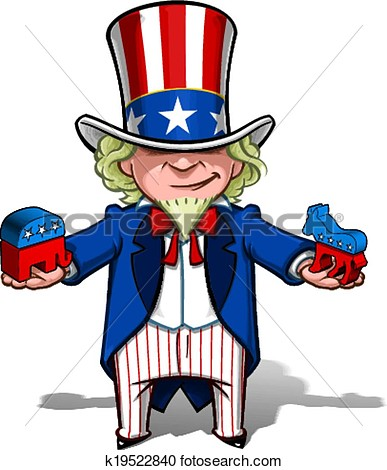 Clipart   Uncle Sam Republican N Democratic  Fotosearch   Search Clip