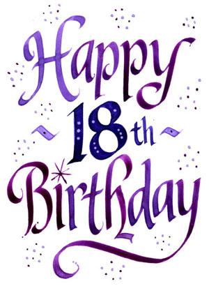 Happy 18 birthday clipart clipart kid