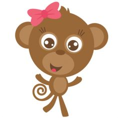 Cute Girl Monkey   Clipart Best