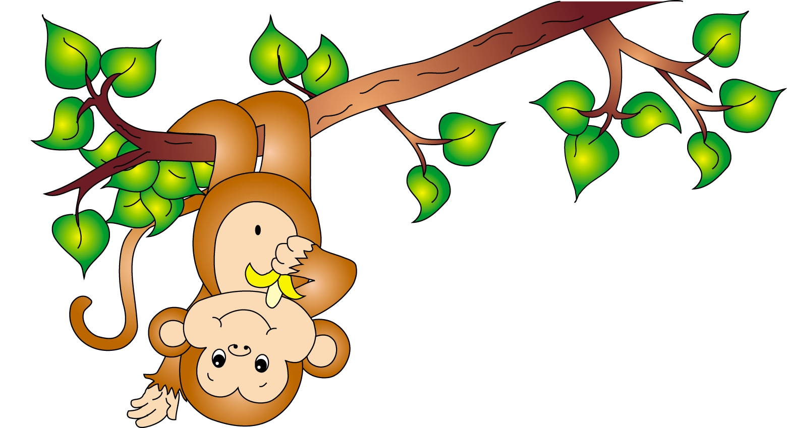 Cute Monkey Clip Art Wallpaper  10612 Wallpaper   Wallpaper Screen