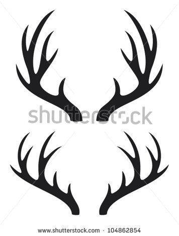 Deer Horns Stock Vector Illustration 104862854   Shutterstock