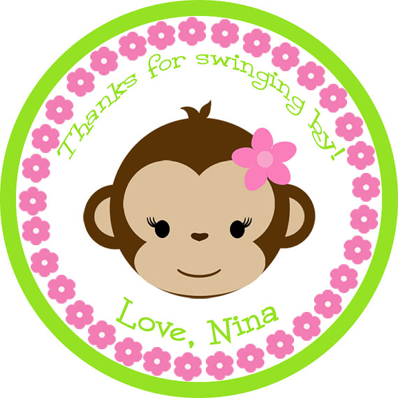 Image Gallery monkey baby shower drawings