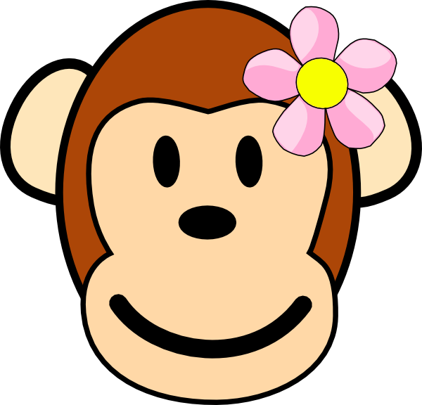 Girl Monkey Clip Art At Clker Com   Vector Clip Art Online Royalty
