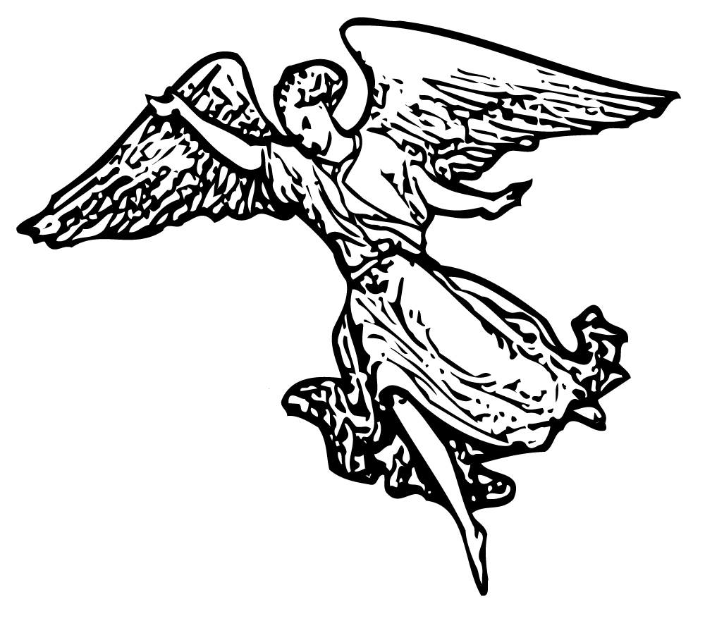 Line Art Angel : Host of angels clipart suggest