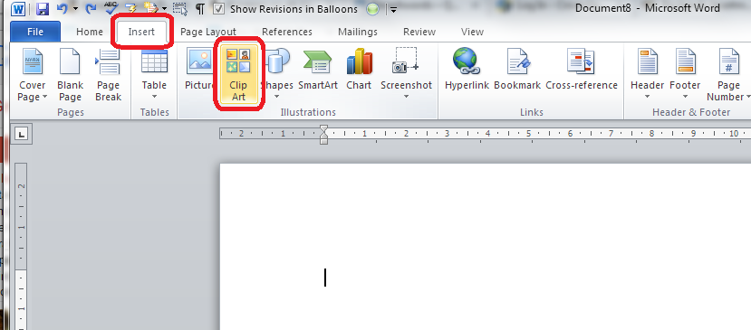 Insert Clip Art In Word 2007 2010 And 2013 And Other Microsoft Office