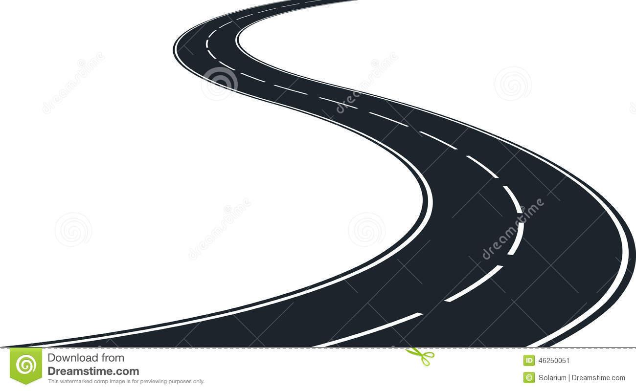 Winding Road Clip Art