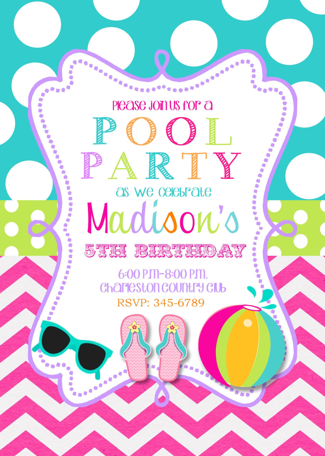 Girly Swim Party Clipart Clipart Kid – Girly Party Invitations