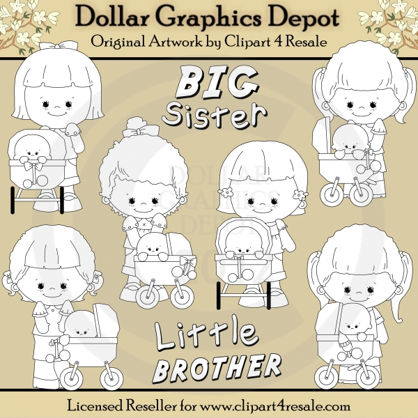 Little Brother Clipart Big Sister Little Brother