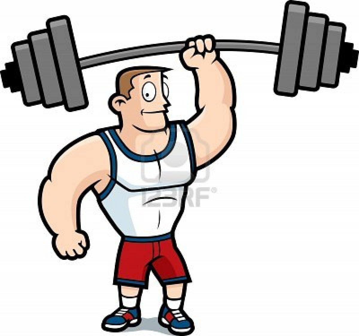 Man Strong And Weak Man Clipart