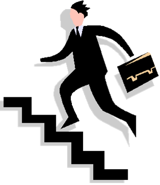Man Walking Up Stairs Clip Art