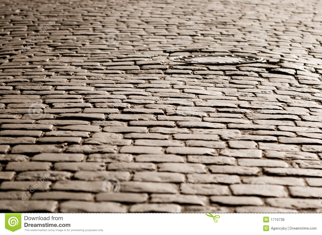 Old Cobblestone Road Royalty Free Stock Image   Image  1710736