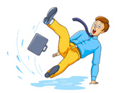 People Falling Down Clip Art Search Results For Slip Fall