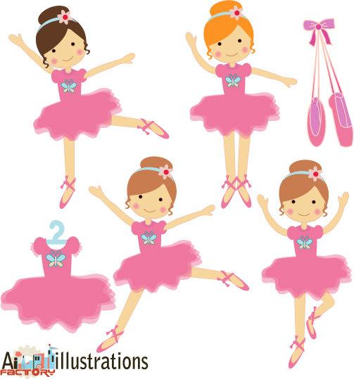 Clip Art Ballerina Clip Art ballerina tutu clipart kid pink little dancing graphics set for graphic