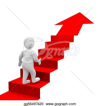 Steps Clipart Man And Red Stairs