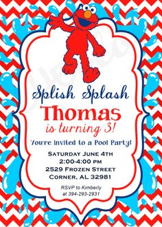 Swim Party Invitations On Pinterest   Swimming Party Favors Pool Par