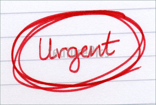 Urgent Circled In Red Ink On White Paper  Picture  Image To Download