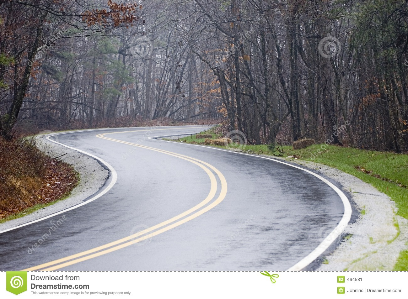 Wet Country Road Stock Image   Image  464581