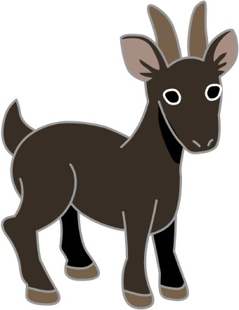 Clip Art Of A Kid Goat Standing