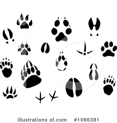 Deer Track Clip Art  Rf  Animal Tracks Clipart