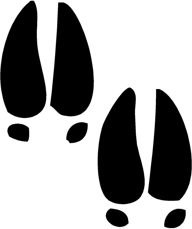 Deer Tracks Sheet Of 20 Vinyl Decal