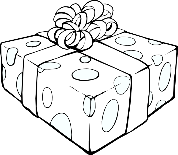 Gift Outline Clip Art At Clker Com   Vector Clip Art Online Royalty