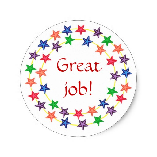 Great Job  Stickers Circles Of Colorful Stars   Zazzle