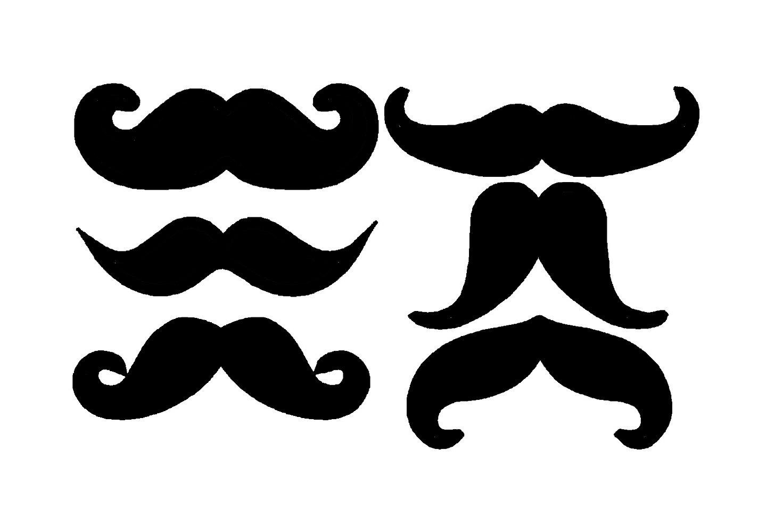 Handlebar Mustache Clipart - Clipart Kid