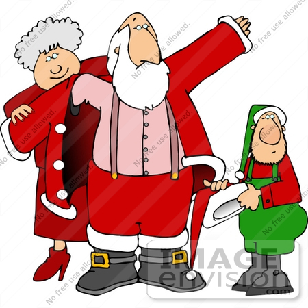 Mrs Claus Helping Santa Put On His Coat Clipart    13034 By Djart