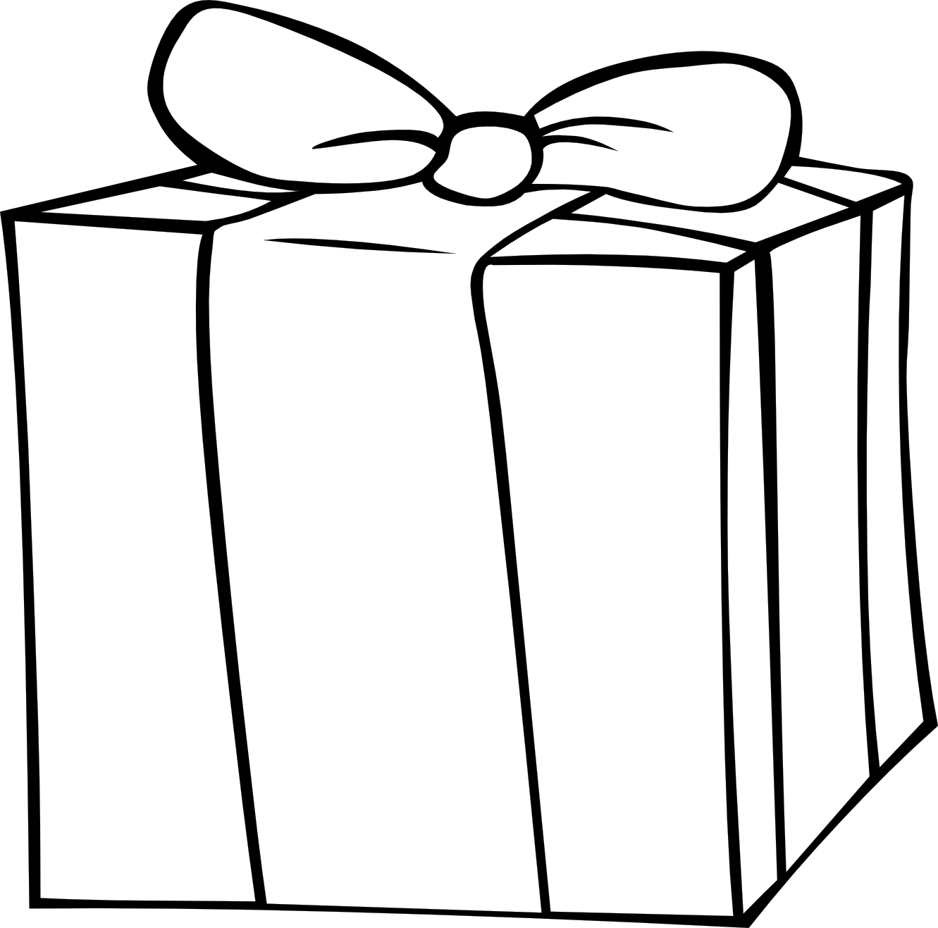 Christmas present outline clipart suggest