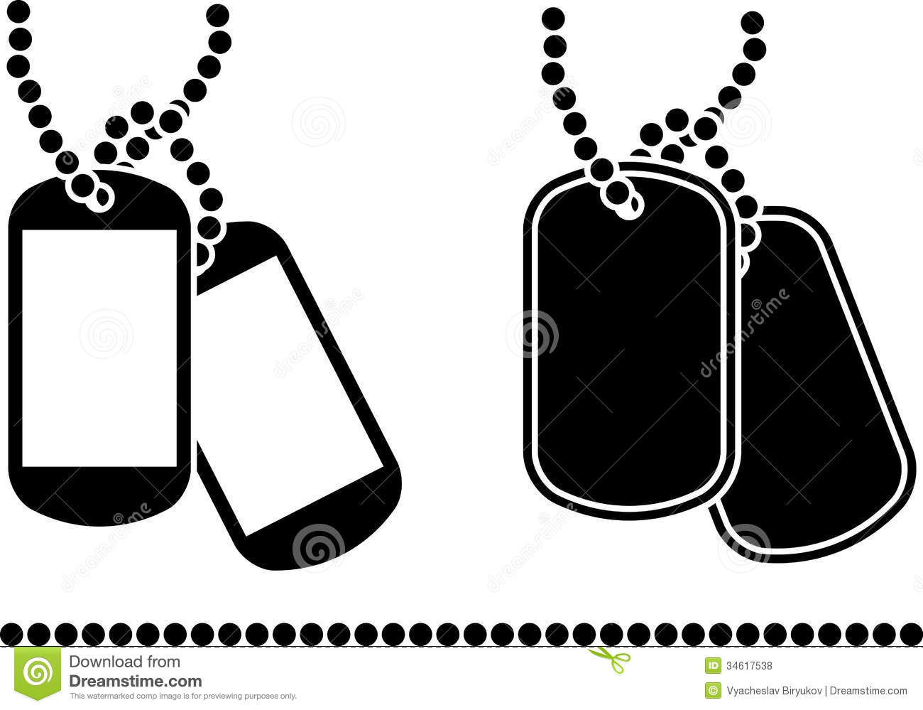 Stencils Of Dog Tags Royalty Free Stock Photos   Image  34617538