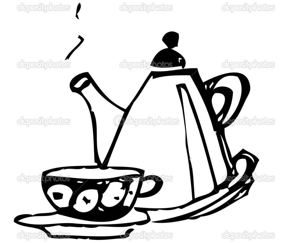 Teapot Outline Clipart Clipart Suggest
