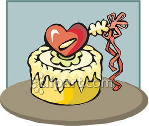 3rd Birthday Cake   Royalty Free Clipart Picture