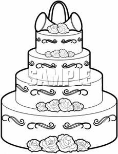 Clip Art Birthday Cake 3 Layers Clipart - Clipart Suggest