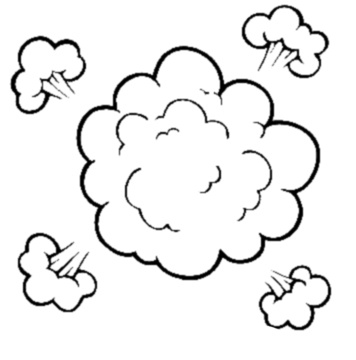 Fight Cloud Clipart - Clipart Kid