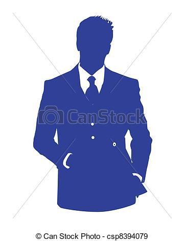 Illustration Of Man Office Avatar Blue   Graphic Illustration Of A Man