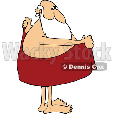 Off With A Towel   Royalty Free Vector Clipart   Dennis Cox  1144602