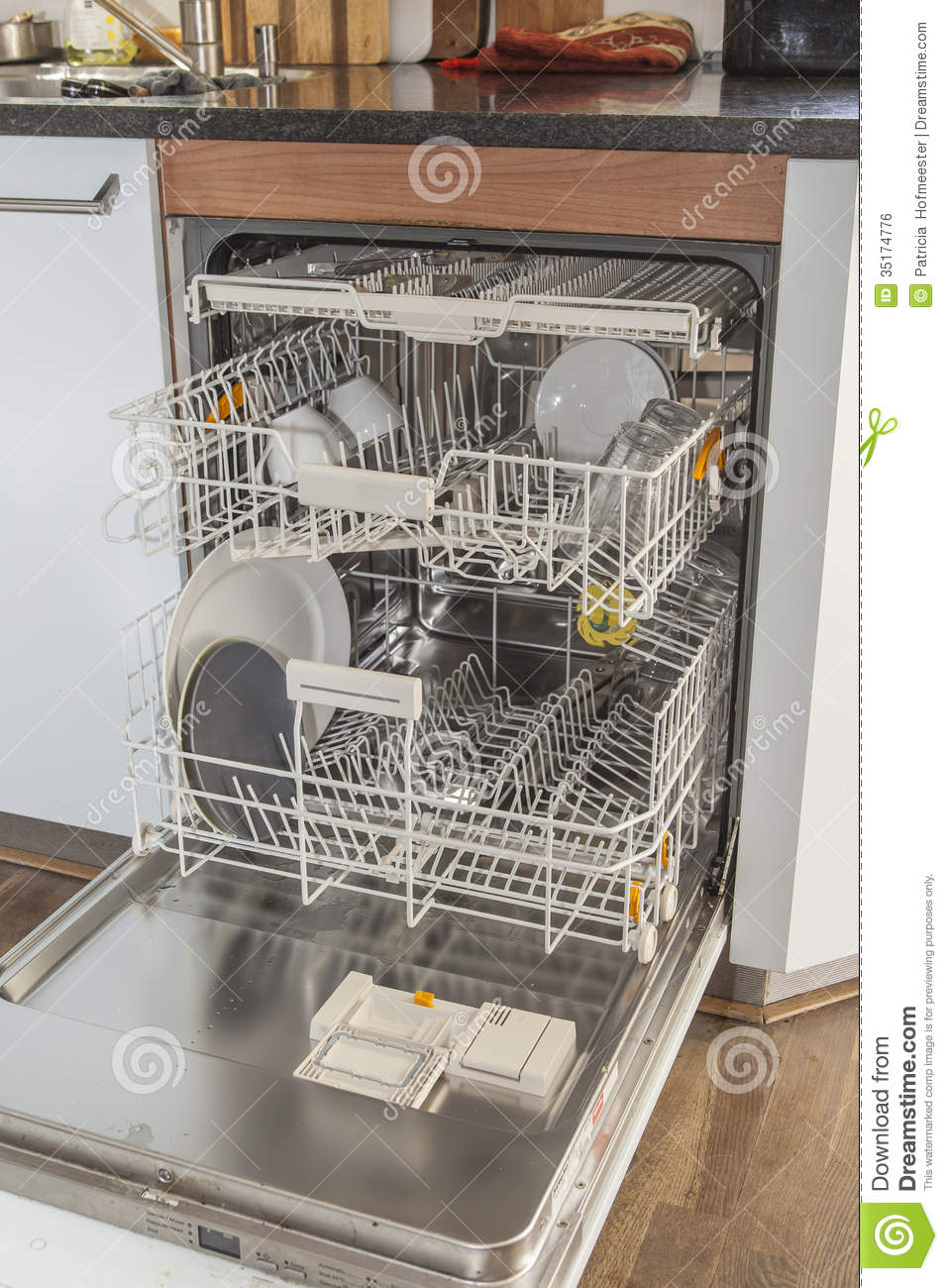 Open Dishwasher In Kitchen Royalty Free Stock Image   Image  35174776
