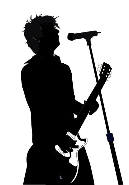 Clip Art Silhouette Singer Clipart - Clipart Kid