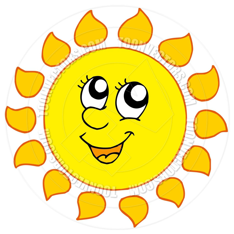 Cute Smiling Sun Clipart - Clipart Kid